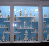 Collection of statues of the Madonna.