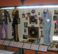 Some of Hank's stage outfits on display.