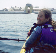 Kayaking proche du fortress de Louisbourg.