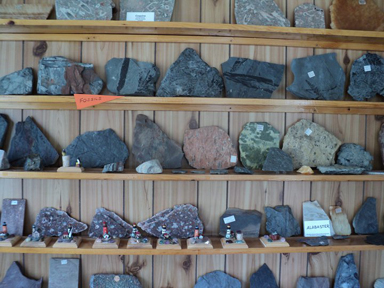Display in the Parrsboro Rock & Mineral Shop and Museum
