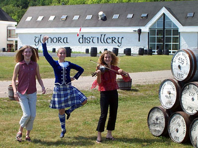 Celtic performers at Glenora Distillery