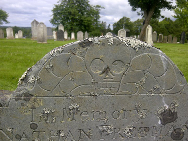 A favourite stone in the Hillcrest Cemetery