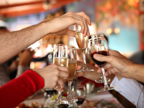 "Spend time with friends and ""cheers"" to our wines"