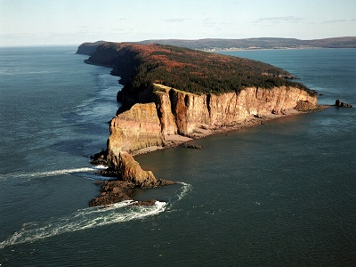 Aerial photo of Cape Split.