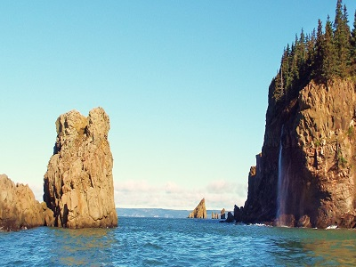 Waterfall by Cape Split.