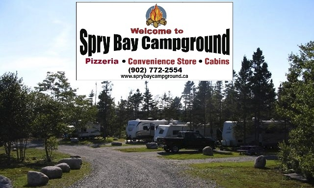 photo of campground & logo