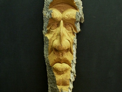 Patrick Mullally's memorable wood carving